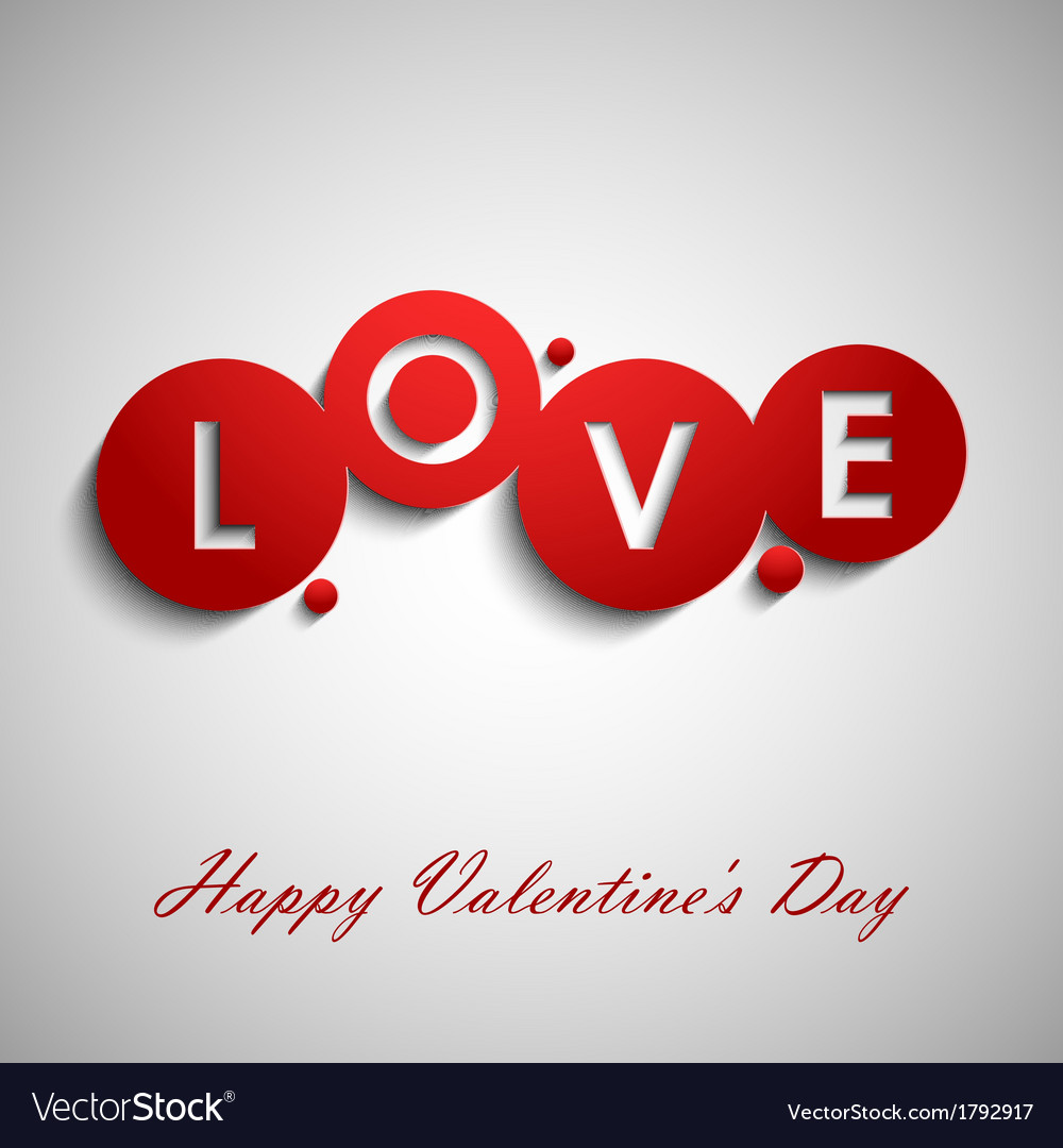 Abstract red valentine wishes vector | Price: 1 Credit (USD $1)