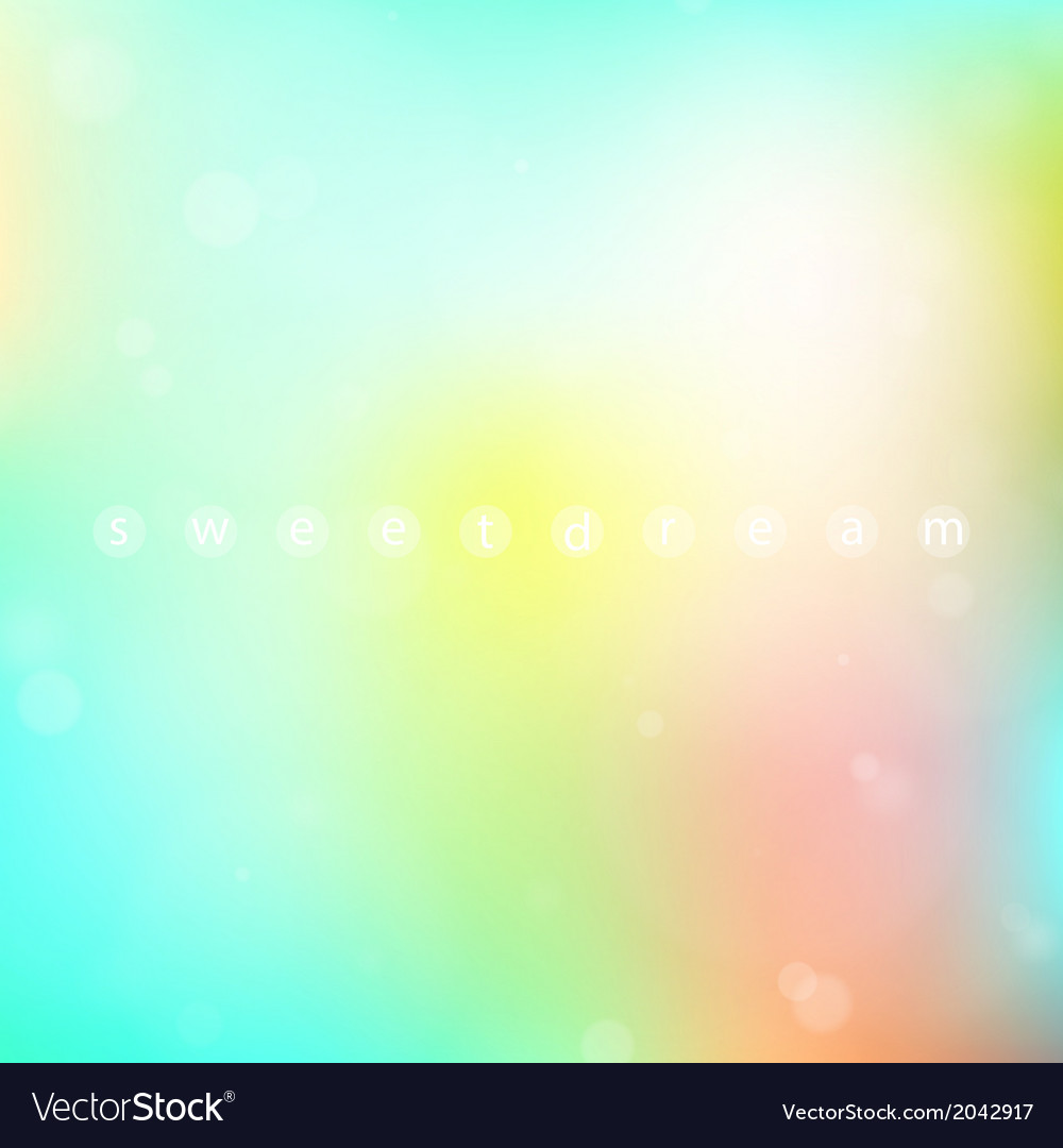 Background of sweet dreams vector | Price: 1 Credit (USD $1)