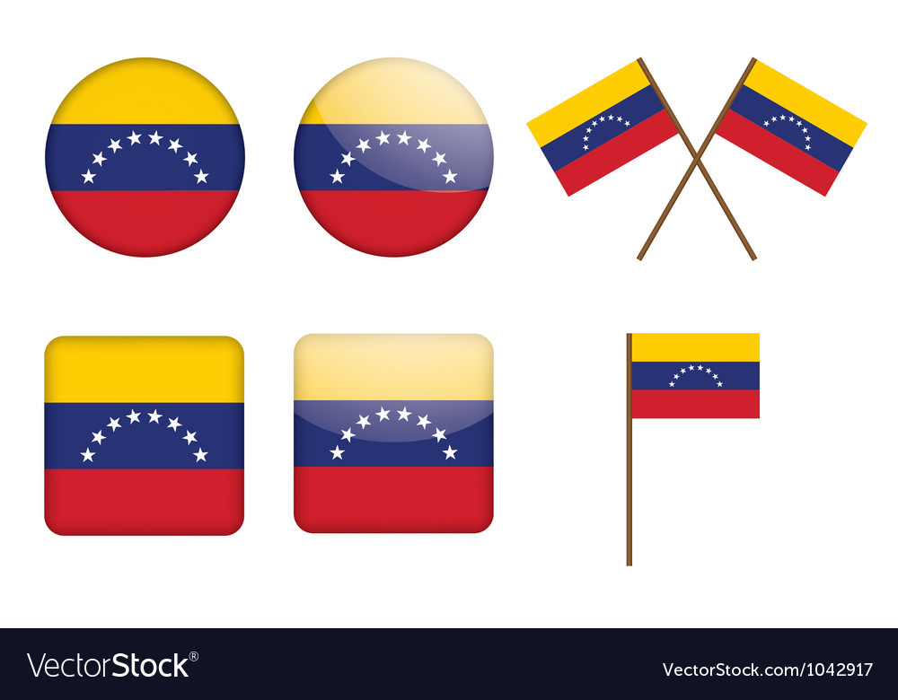 Badges with flag of venezuela vector | Price: 1 Credit (USD $1)