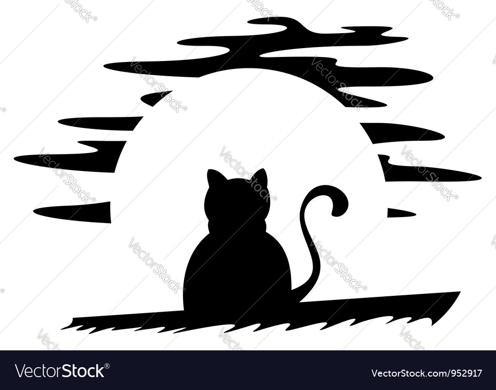 Cat on roof vector | Price: 1 Credit (USD $1)