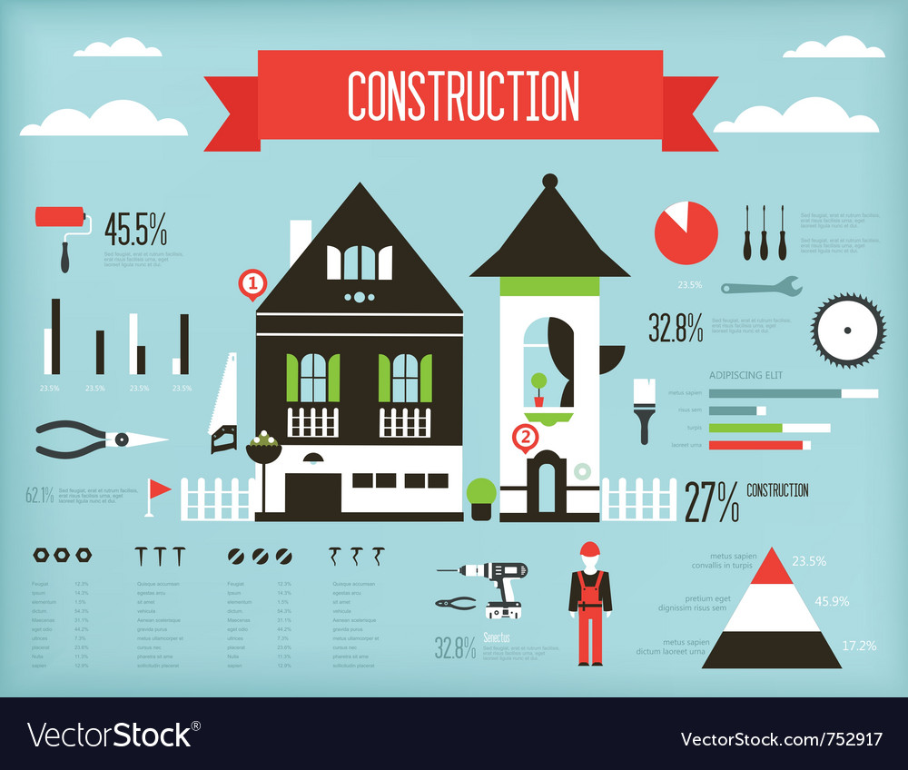 Construction infographic vector | Price: 1 Credit (USD $1)