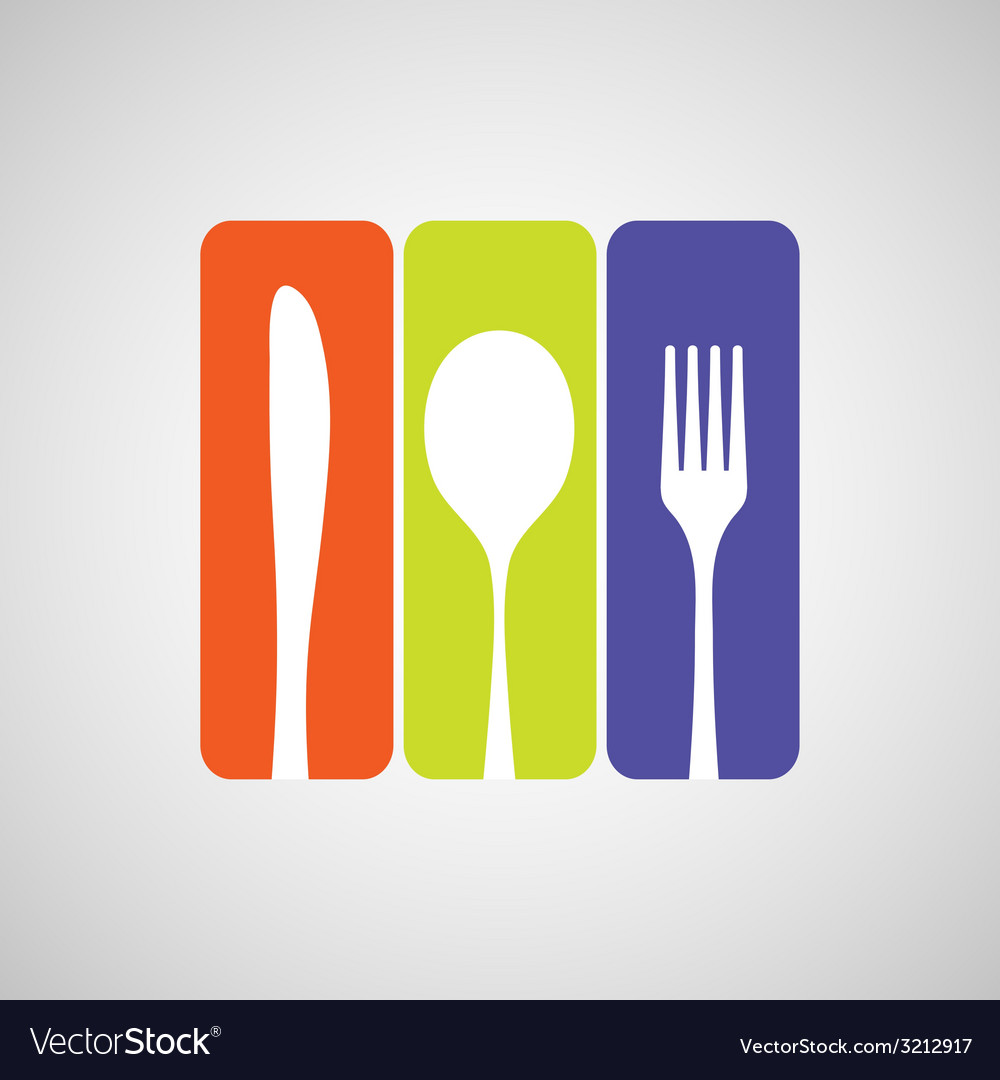 Cutlery color vector | Price: 1 Credit (USD $1)
