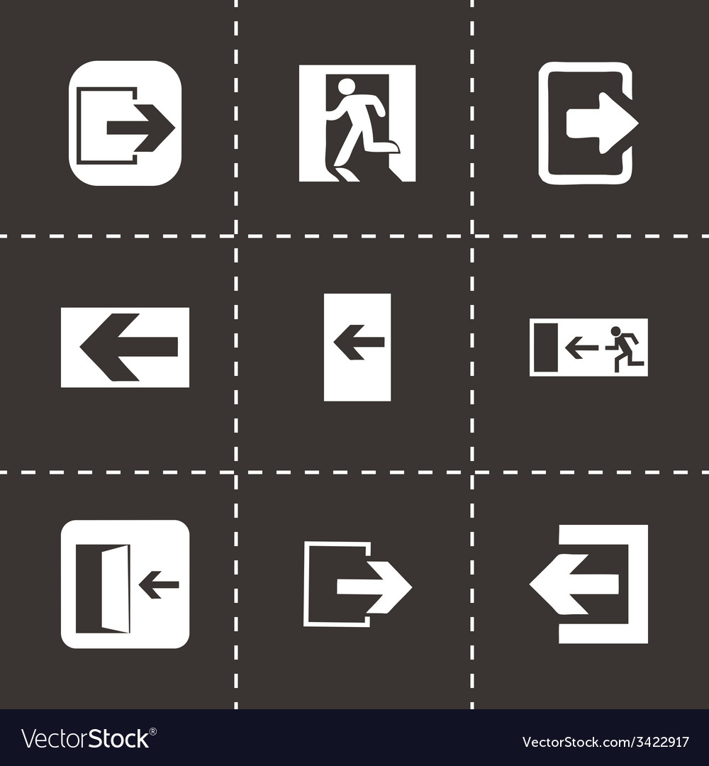 Exit icons set vector | Price: 1 Credit (USD $1)