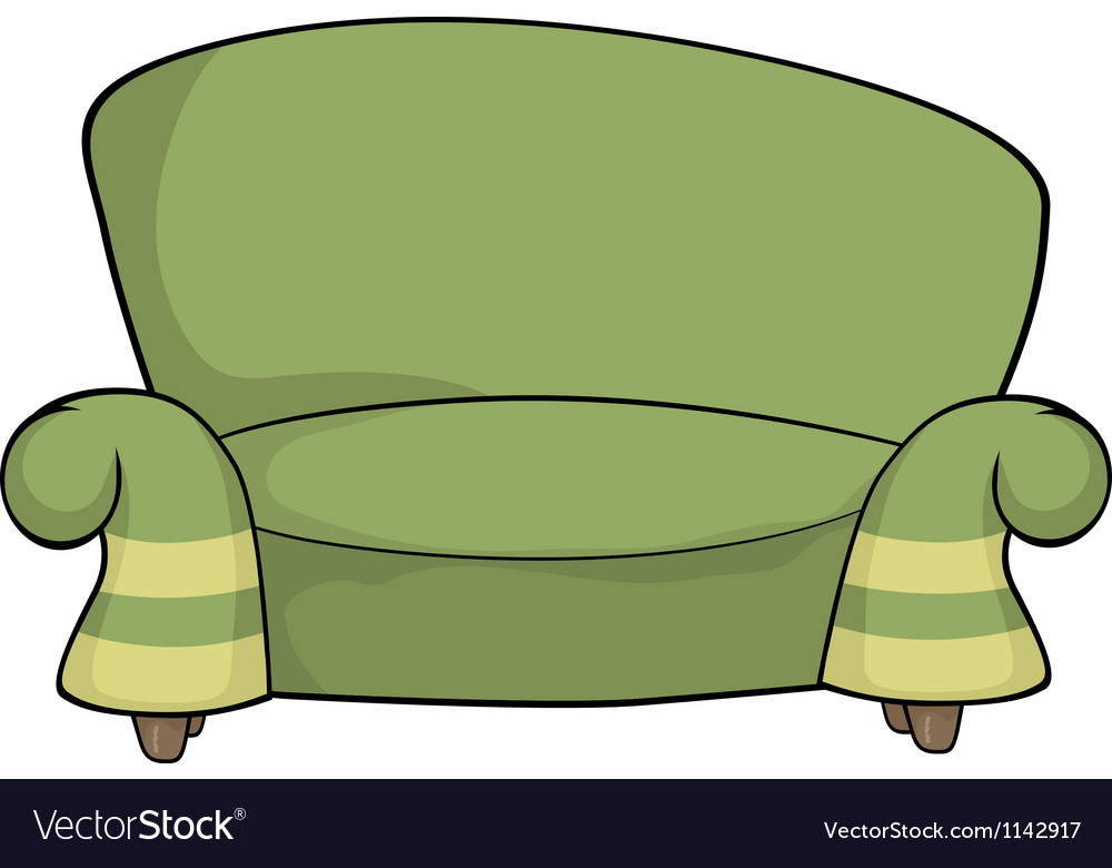 Green sofa vector | Price: 1 Credit (USD $1)