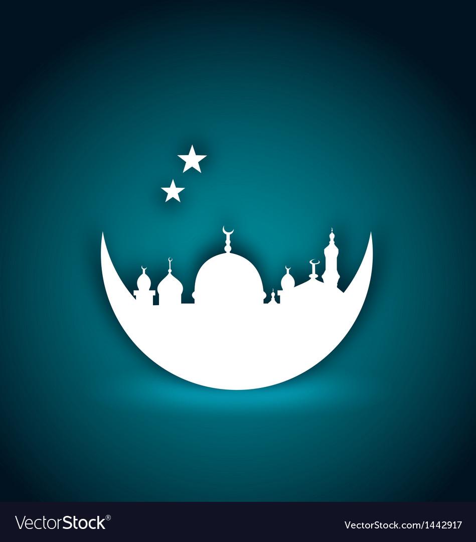 Greeting card for ramadan kareem vector   Price: 1 Credit (USD $1)
