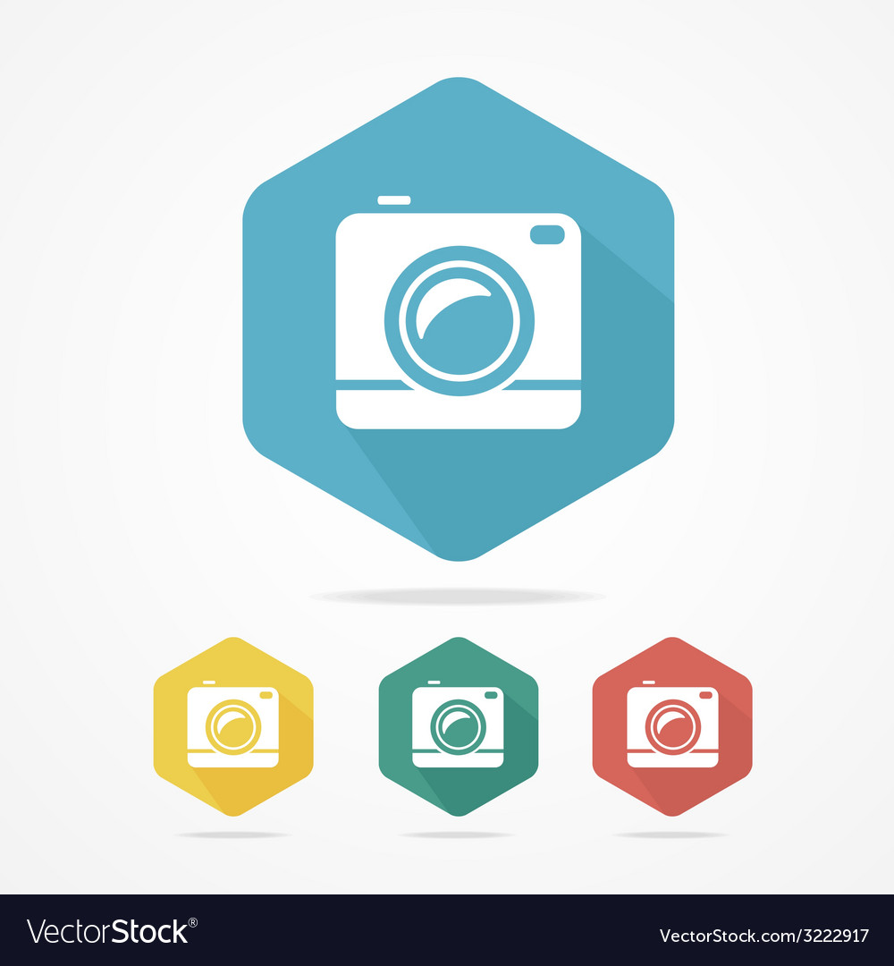 Hipster photo or video camera flat style vector | Price: 1 Credit (USD $1)