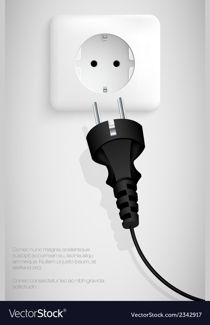 Power plug vector | Price: 1 Credit (USD $1)