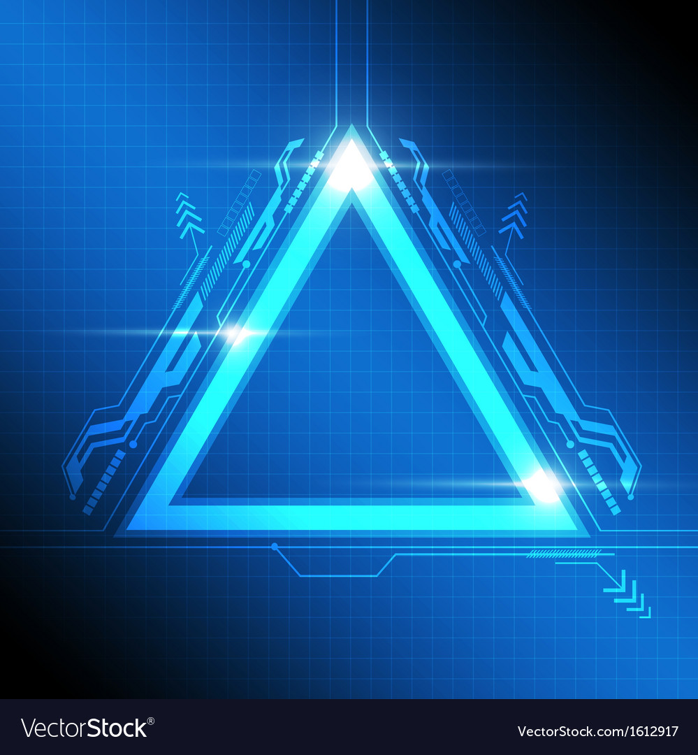 Triangle frame modern design vector | Price: 1 Credit (USD $1)