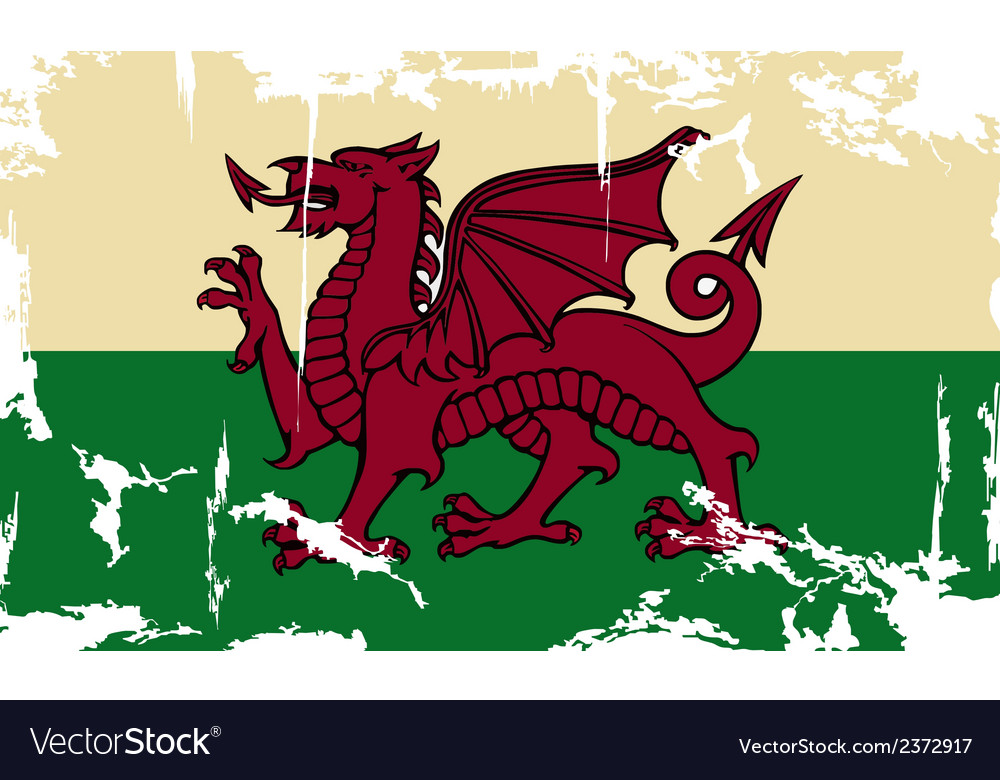 Wales grunge flag vector | Price: 1 Credit (USD $1)