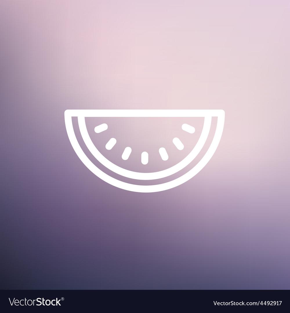 Watermelon slice thin line icon vector | Price: 1 Credit (USD $1)