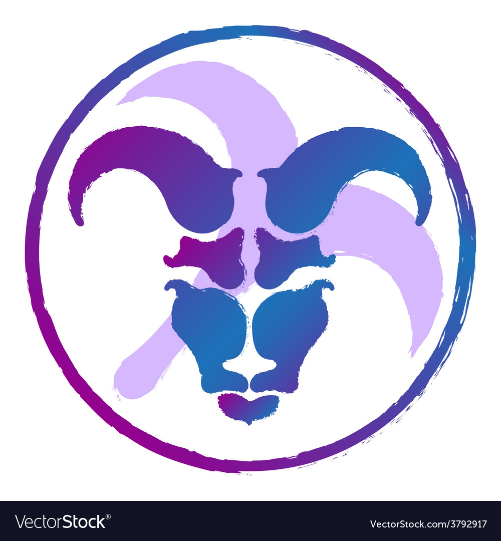 Zodiac sign aries  watercolor vector | Price: 1 Credit (USD $1)