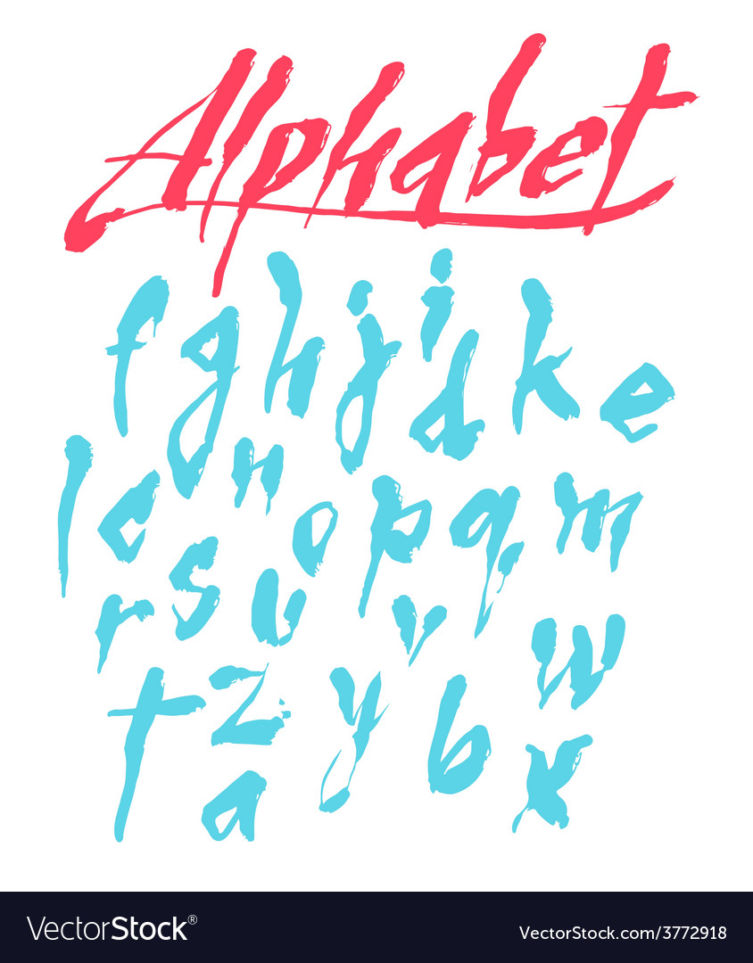 Alphabet hand drawn letters vector | Price: 1 Credit (USD $1)