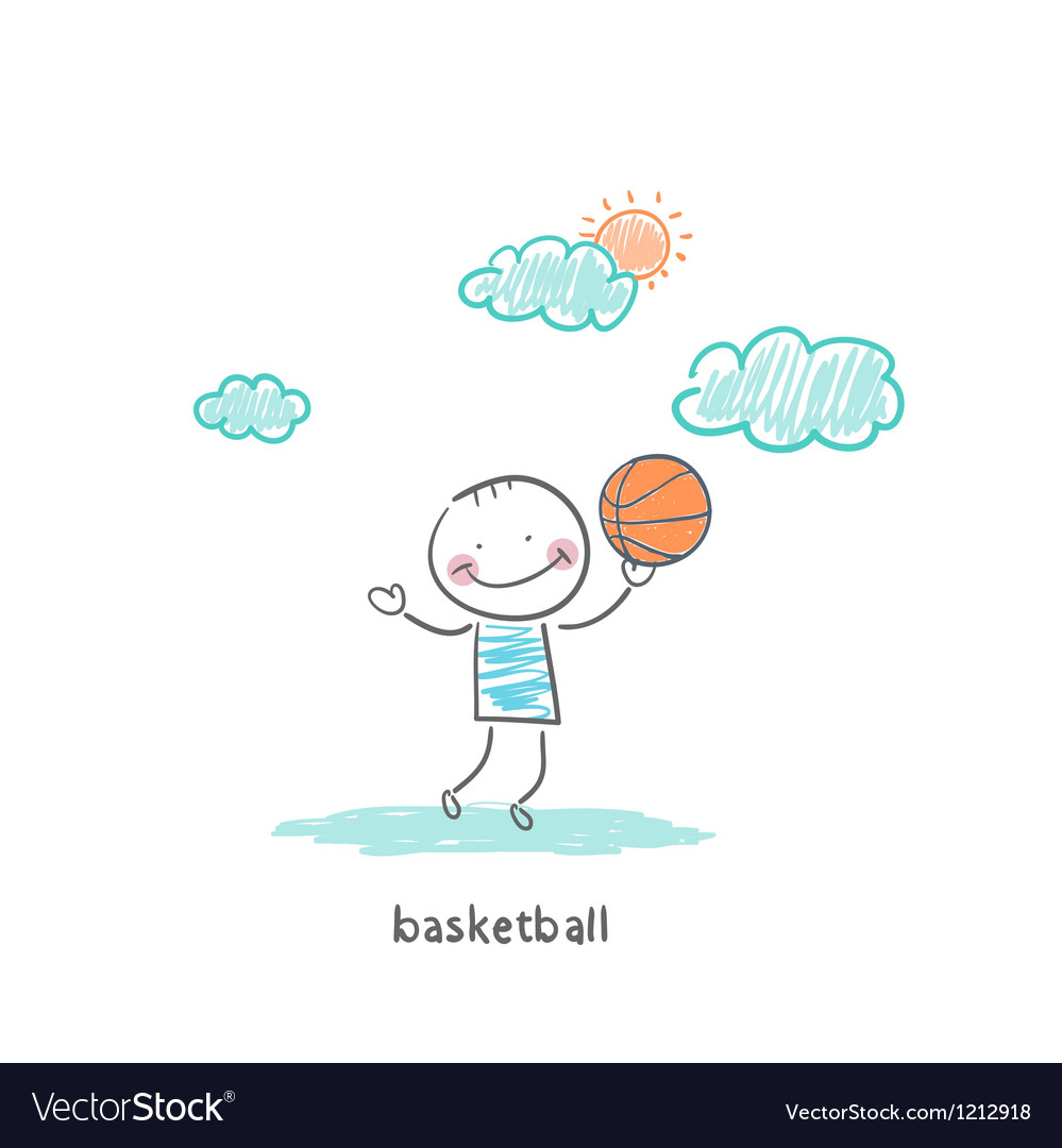 Basketball player vector | Price: 1 Credit (USD $1)