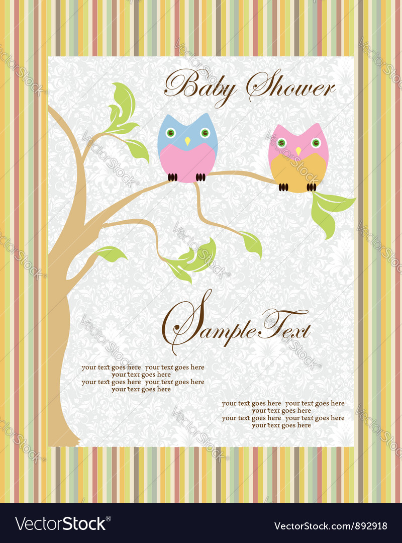 Cute cartoon owls birth vector | Price: 1 Credit (USD $1)