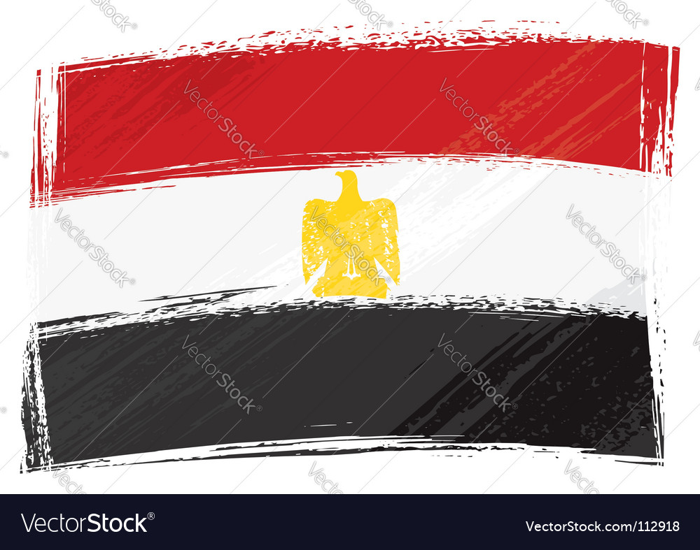 Grunge egypt flag vector | Price: 1 Credit (USD $1)