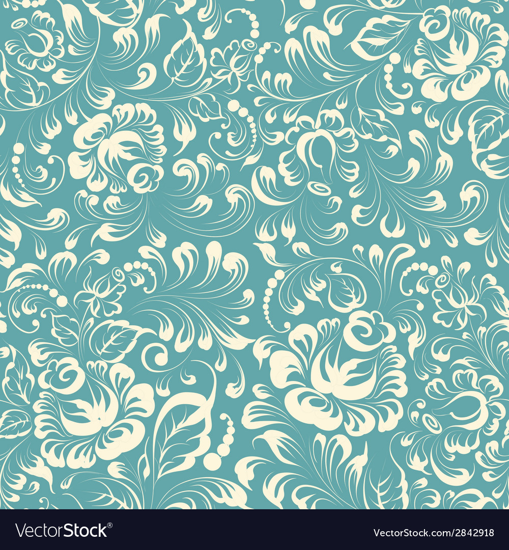 Khohloma style floral pattern vector | Price: 1 Credit (USD $1)