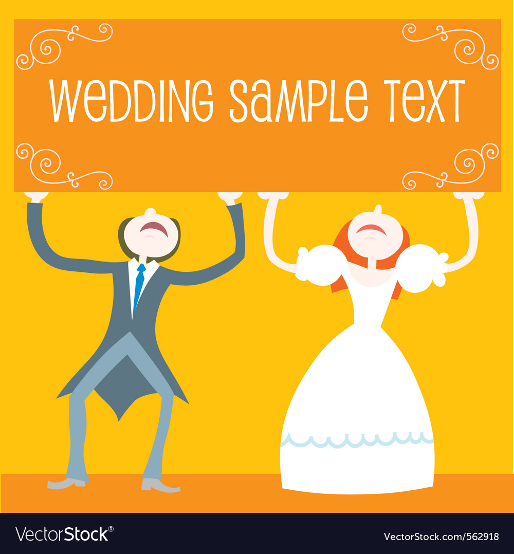 Wedding cartoon couple vector | Price: 1 Credit (USD $1)