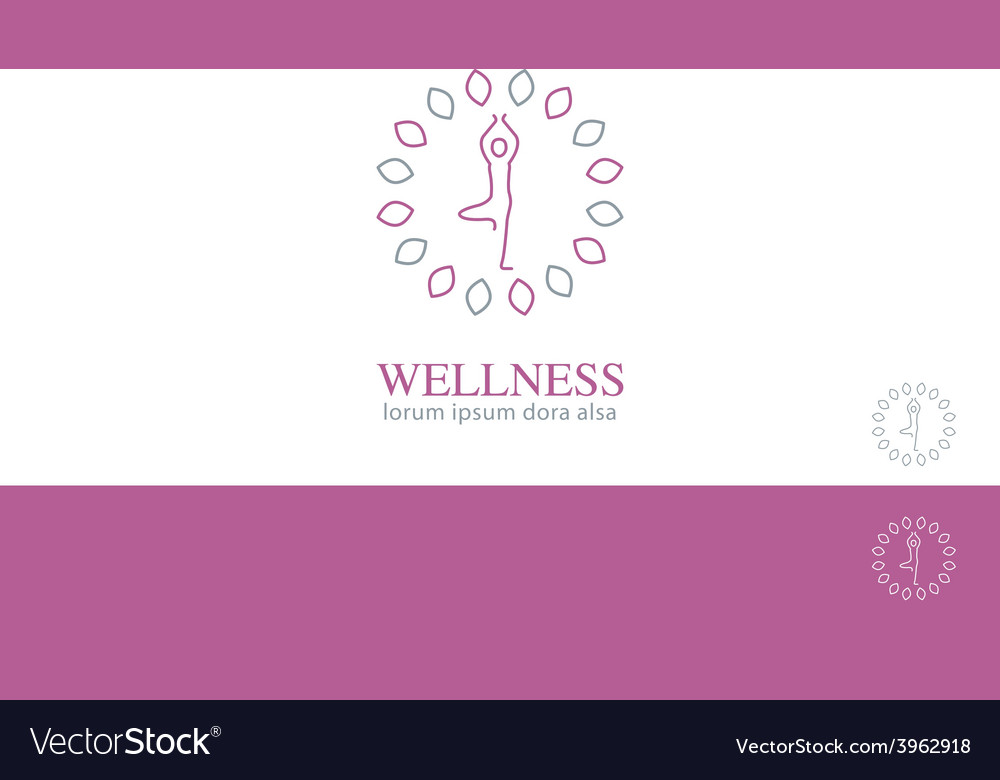 Yoga wellness health concept design element vector | Price: 1 Credit (USD $1)