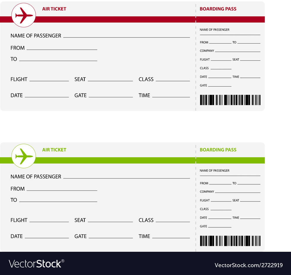 Air ticket vector | Price: 1 Credit (USD $1)