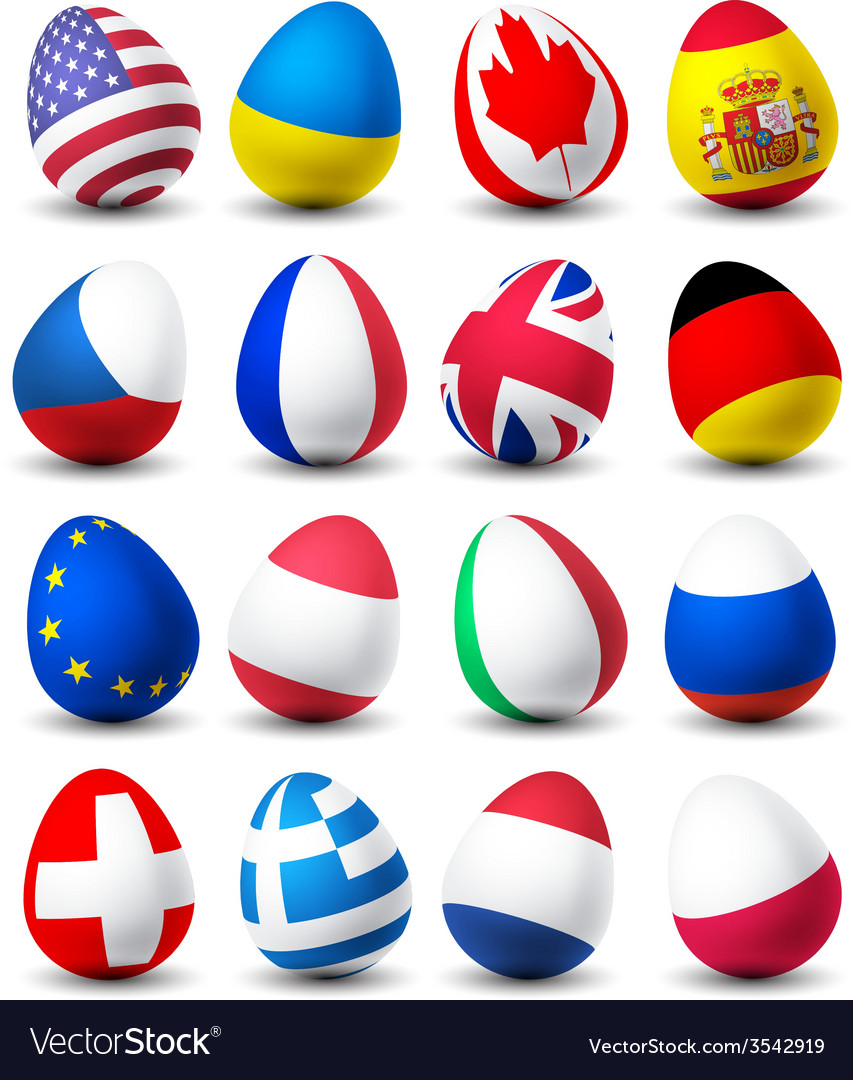 Egg flags vector | Price: 1 Credit (USD $1)