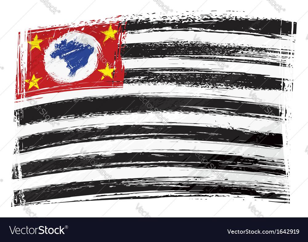 Grunge sao paulo flag vector | Price: 1 Credit (USD $1)