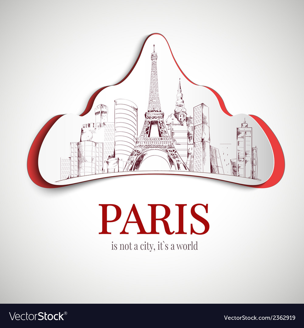 Paris city emblem vector | Price: 1 Credit (USD $1)