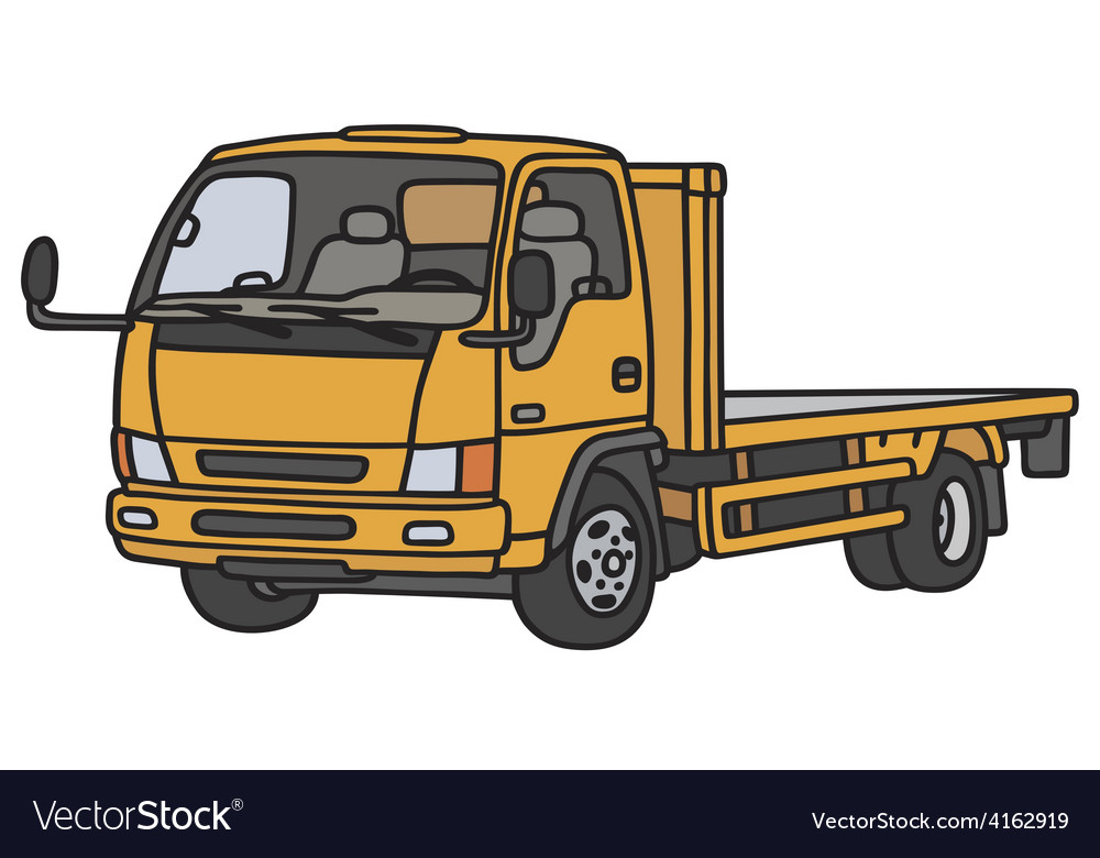 Small orange lorry vector | Price: 1 Credit (USD $1)