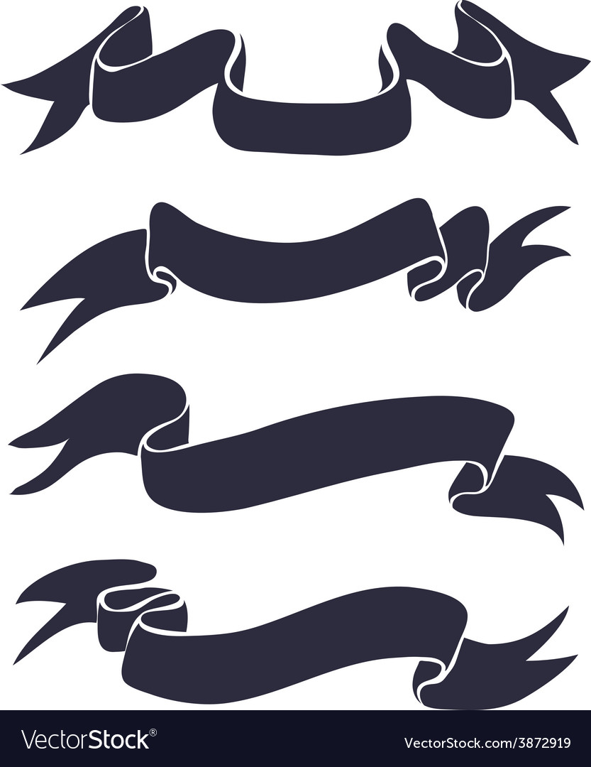 T-shirt graphic set of ribbons vector | Price: 1 Credit (USD $1)