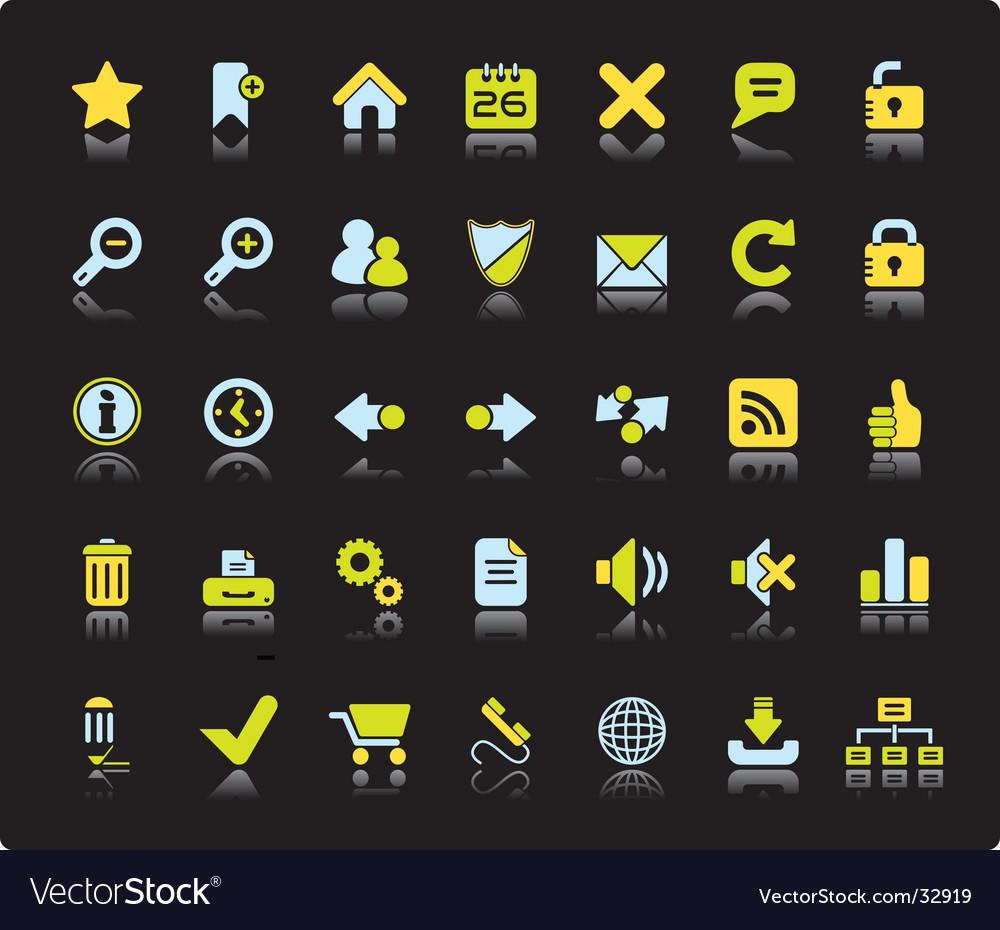 Web icon set vector | Price: 1 Credit (USD $1)