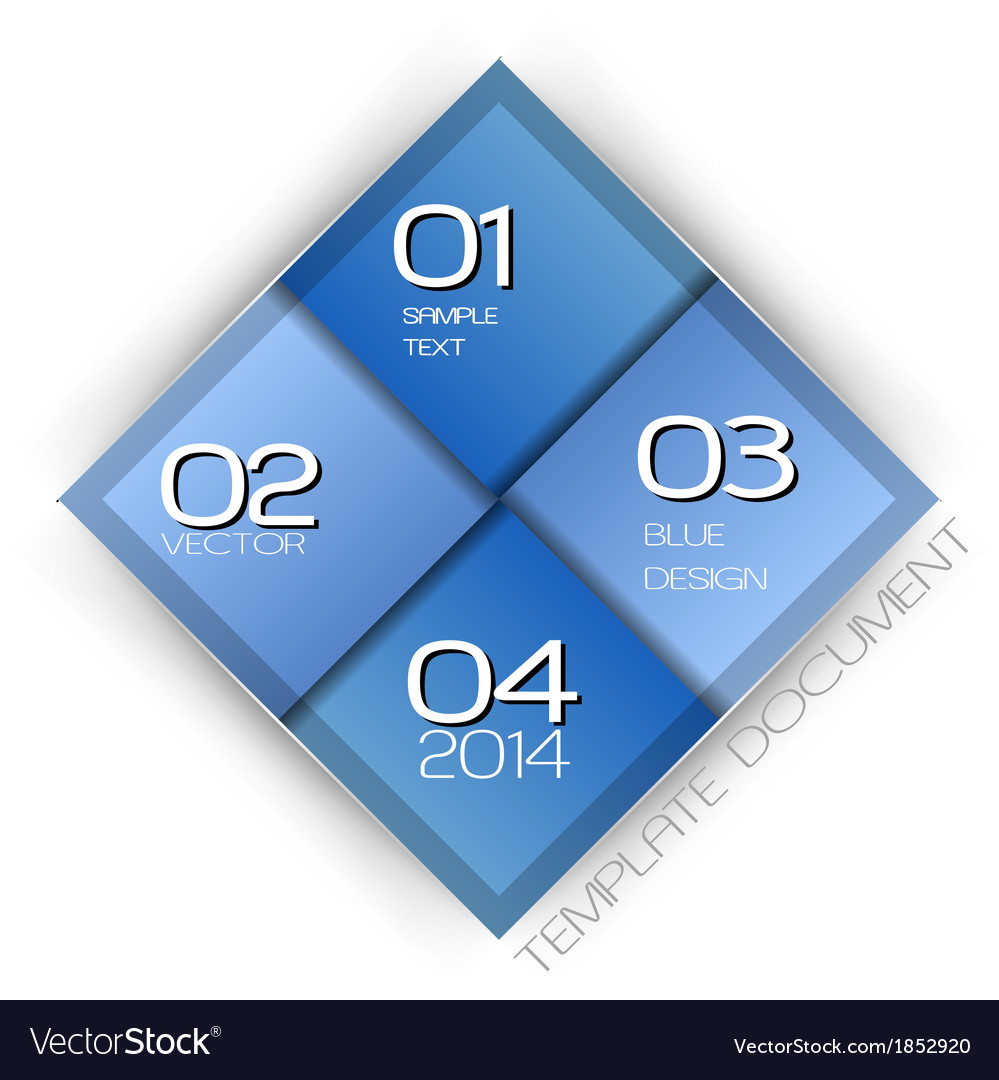 Business four squares blue with text vector | Price: 1 Credit (USD $1)