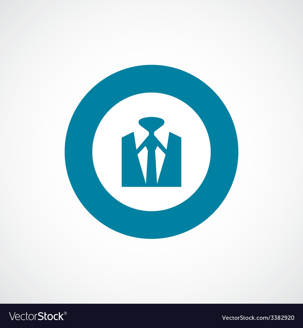 Business wear bold blue border circle icon vector | Price: 1 Credit (USD $1)