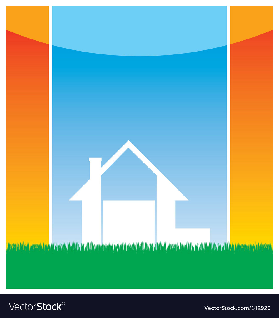 Country cottage vector | Price: 1 Credit (USD $1)