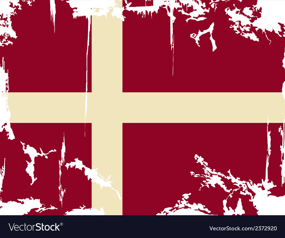 Denmark grunge flag vector | Price: 1 Credit (USD $1)