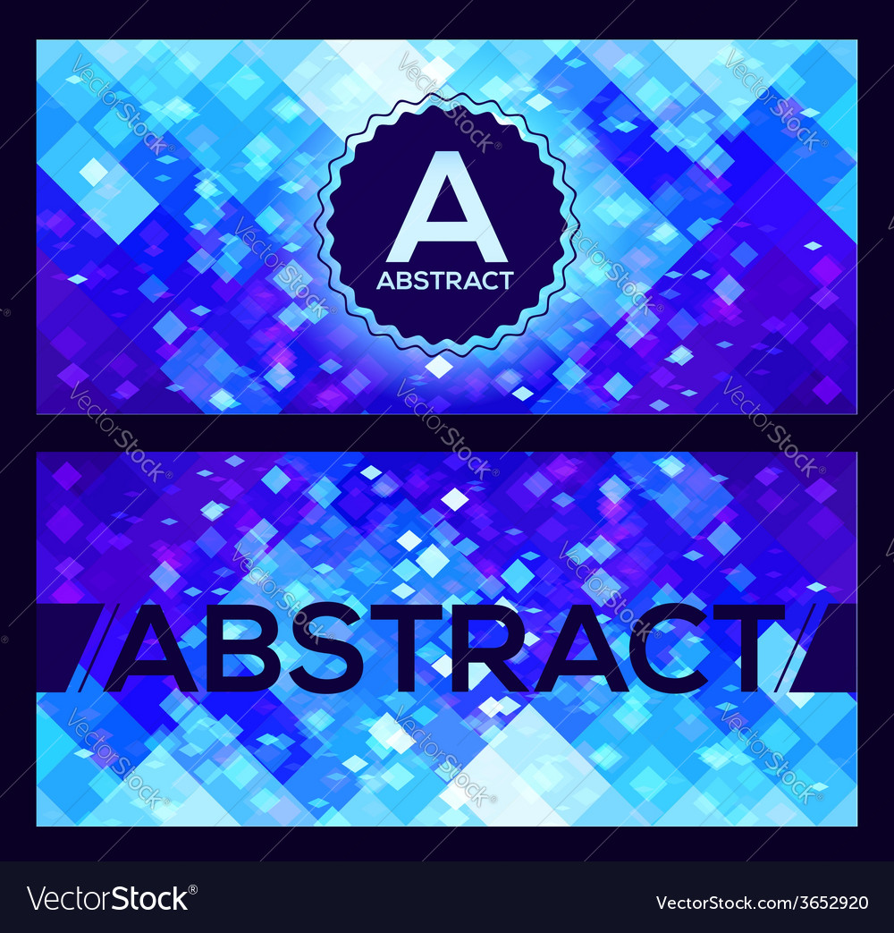 Flyers templates with blue abstract geometry vector | Price: 1 Credit (USD $1)