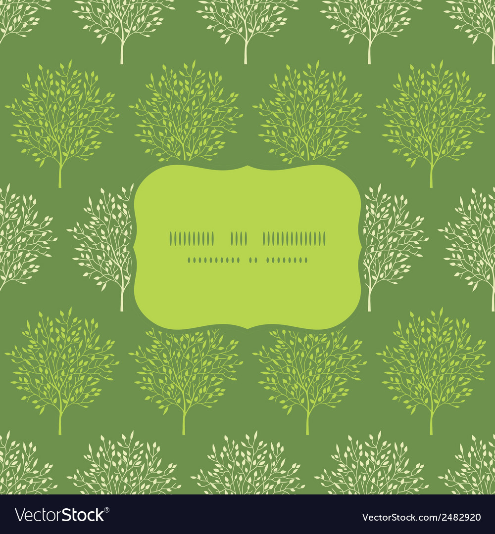 Green trees stripes seamless frame pattern vector | Price: 1 Credit (USD $1)