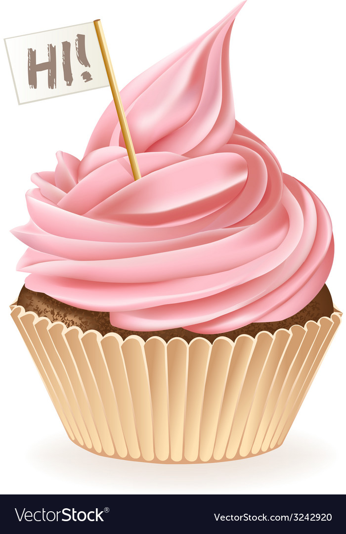 Hi cupcake vector | Price: 3 Credit (USD $3)