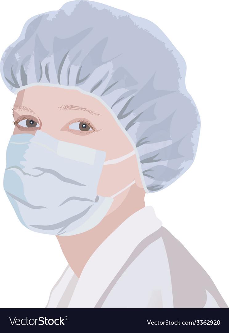 Realistic portrait of a nurse or doctor vector | Price: 1 Credit (USD $1)
