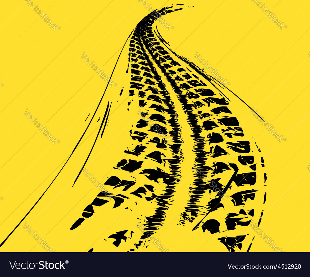 Tire tracks background vector   Price: 1 Credit (USD $1)