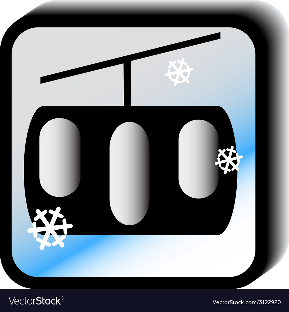 Winter icon - lift vector | Price: 1 Credit (USD $1)