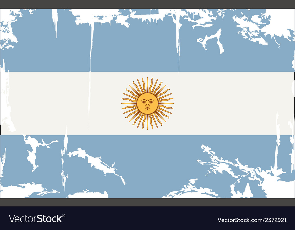 Argentine grunge flag vector | Price: 1 Credit (USD $1)