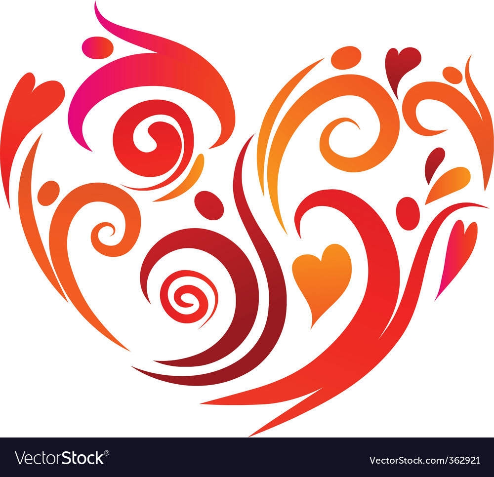 Artistic heart vector | Price: 1 Credit (USD $1)