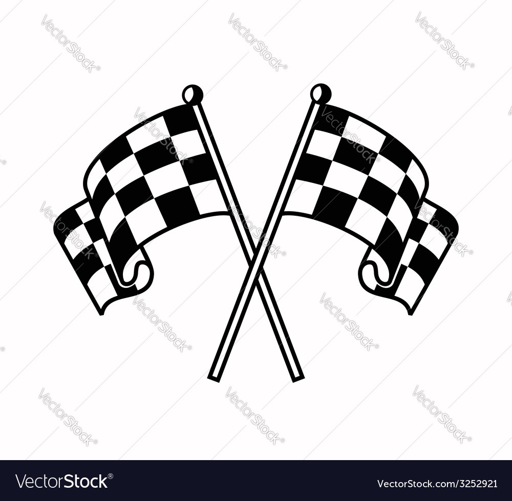 Checkered flags icon vector | Price: 1 Credit (USD $1)