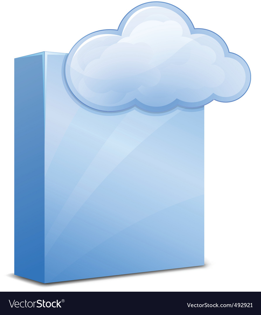 Cloud software vector | Price: 1 Credit (USD $1)
