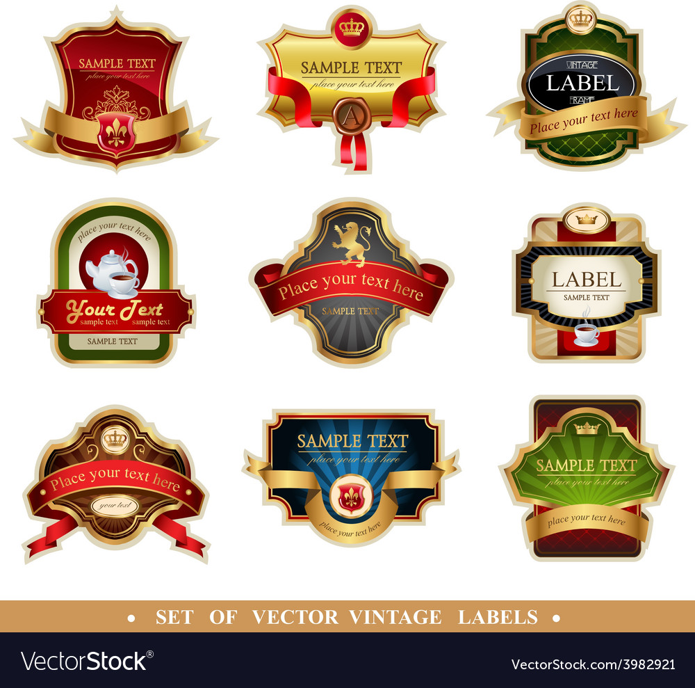 Frames and ornamental labels vector | Price: 3 Credit (USD $3)