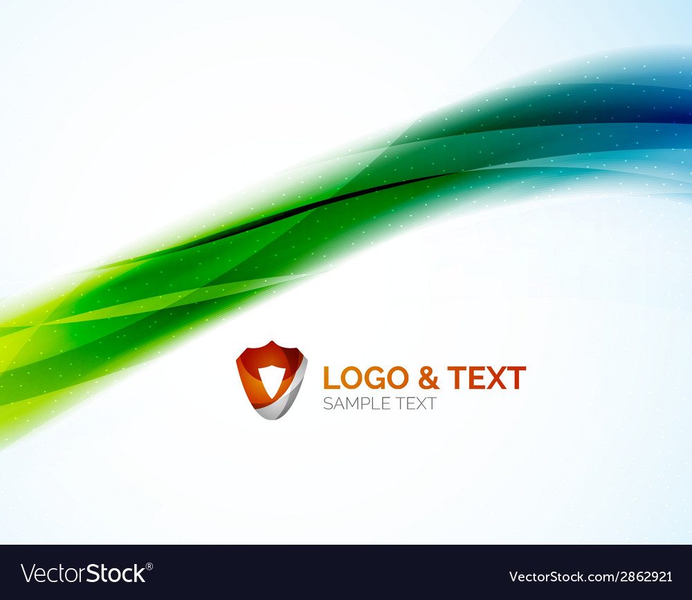 Futuristic business green and blue colors wave vector | Price: 1 Credit (USD $1)