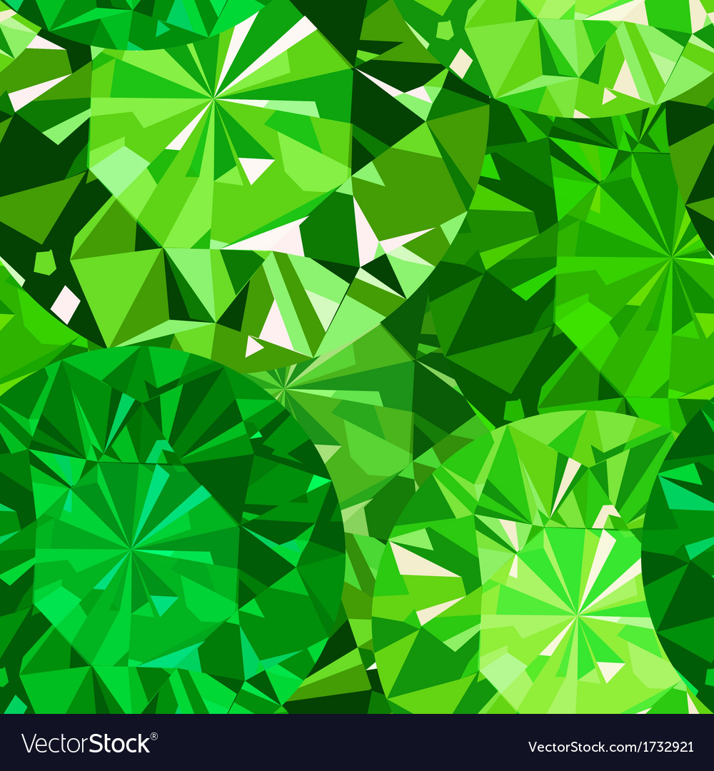 Gem seamless pattern emerald pattern background vector | Price: 1 Credit (USD $1)