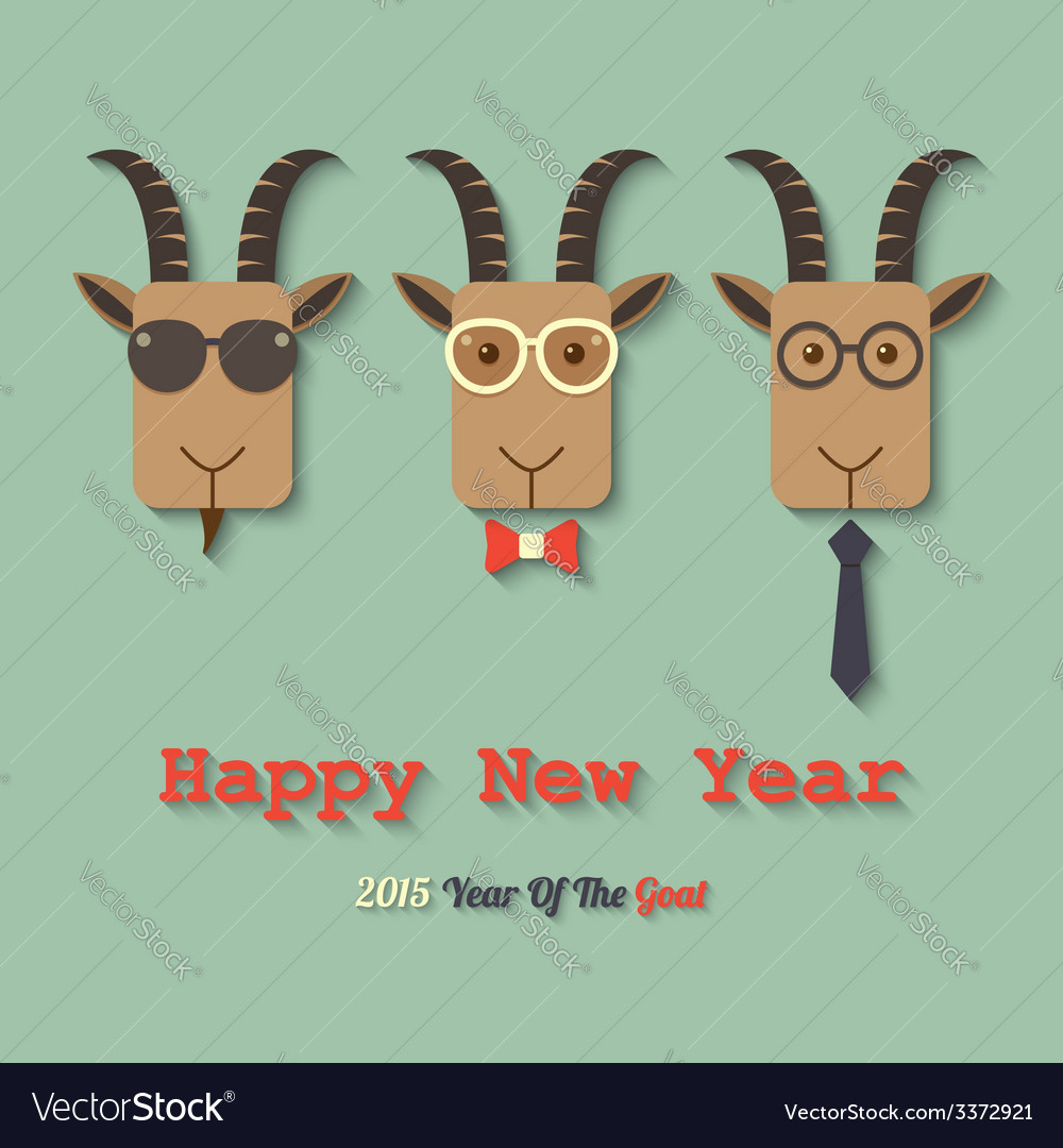 Happy new year 2015 year of the goat vector   Price: 1 Credit (USD $1)
