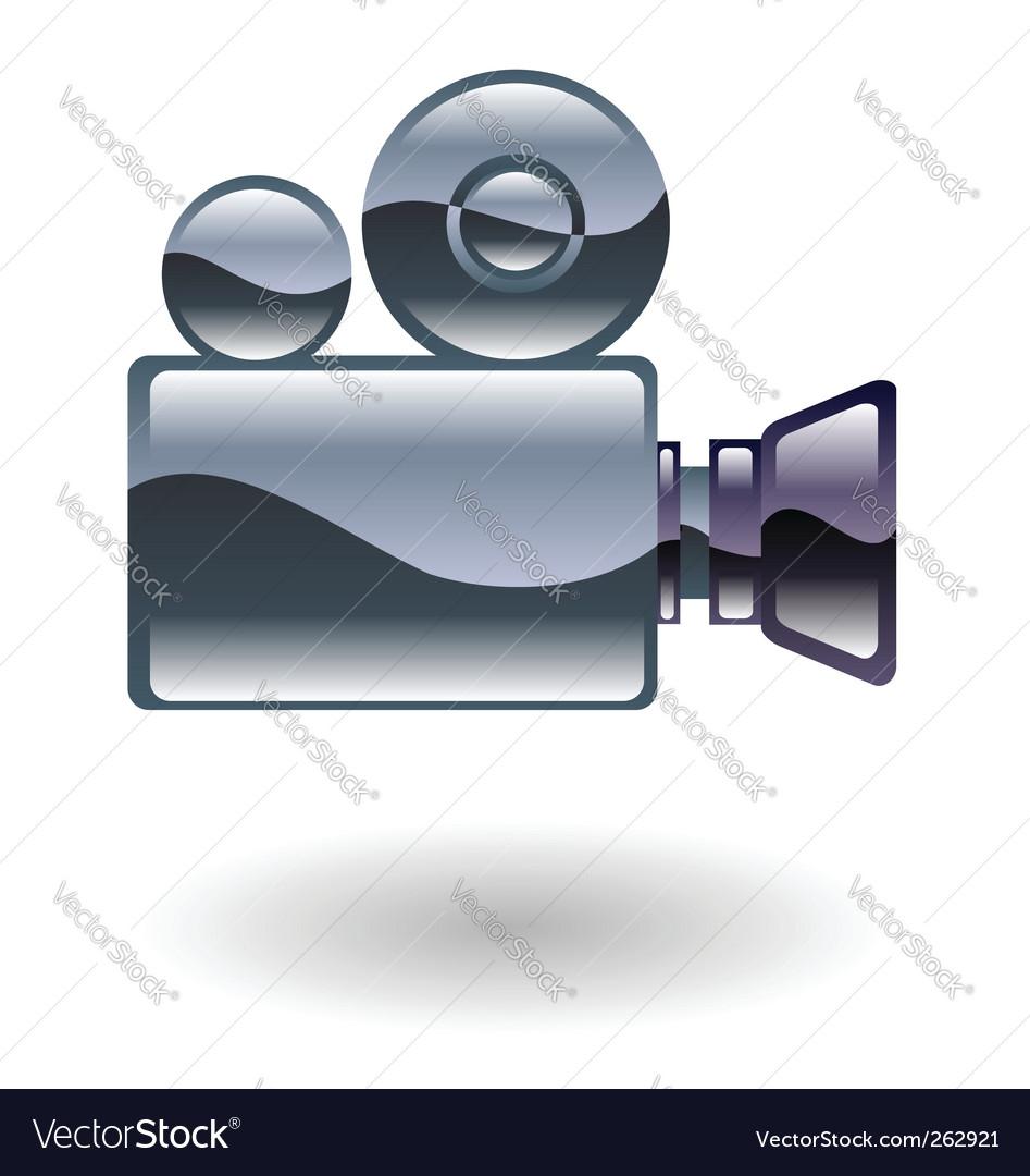 Movie camera vector | Price: 1 Credit (USD $1)