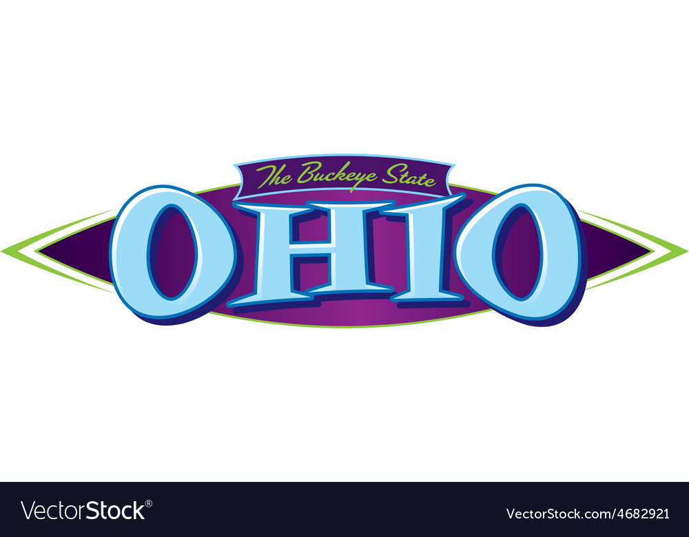 Ohio the buckeye state vector | Price: 1 Credit (USD $1)