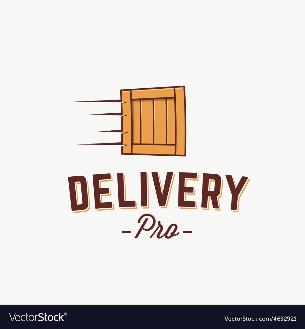 Professional delivery abstract logo vector | Price: 1 Credit (USD $1)